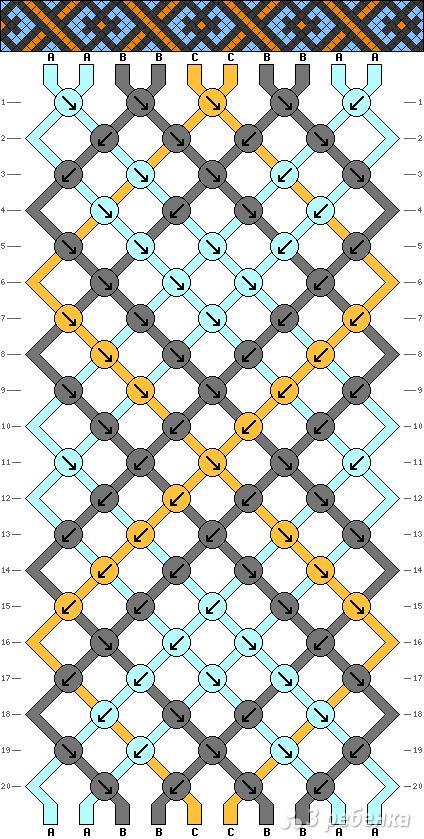 Схема фенечки 13850