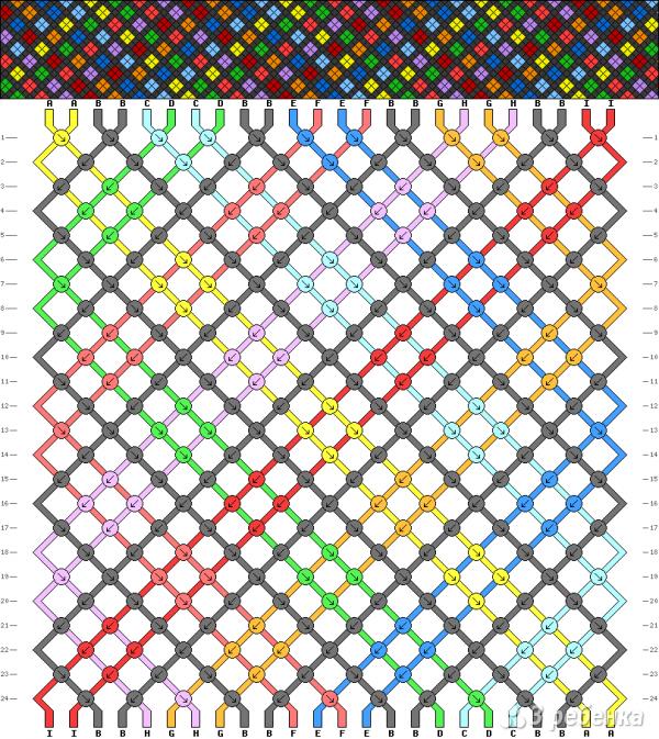Схема фенечки 14023