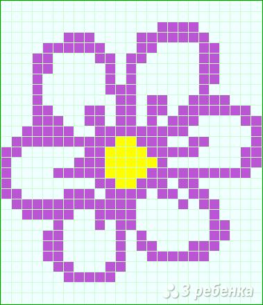 Схема фенечки прямым плетением 14761