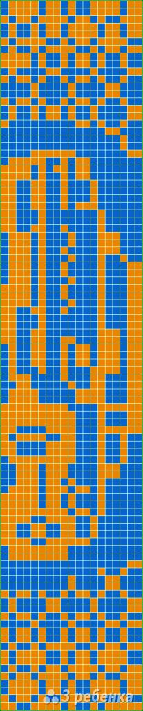 Схема фенечки прямым плетением 14788