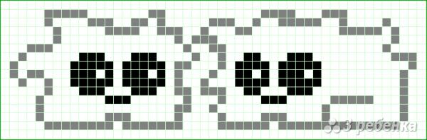 Схема фенечки прямым плетением 14969
