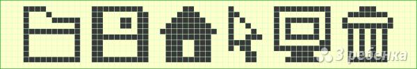Схема фенечки прямым плетением 14640