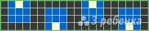 Схема фенечки прямым плетением 14946