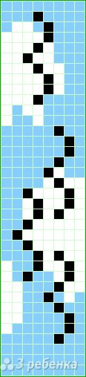Схема фенечки прямым плетением 14828