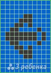 Схема фенечки прямым плетением 14685