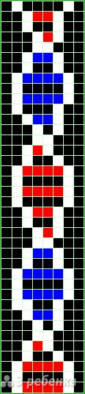 Схема фенечки прямым плетением 14974
