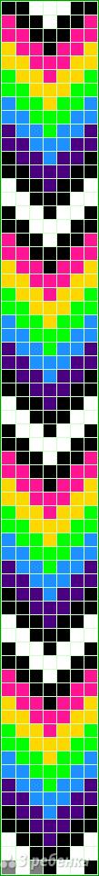 Схема фенечки прямым плетением 14951