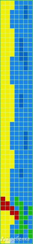 Схема фенечки прямым плетением 14800