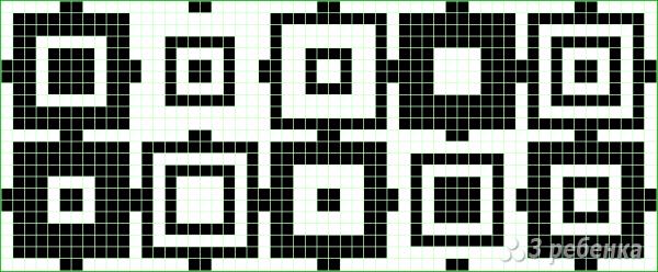 Схема фенечки прямым плетением 14811