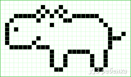 Схема фенечки прямым плетением 14805