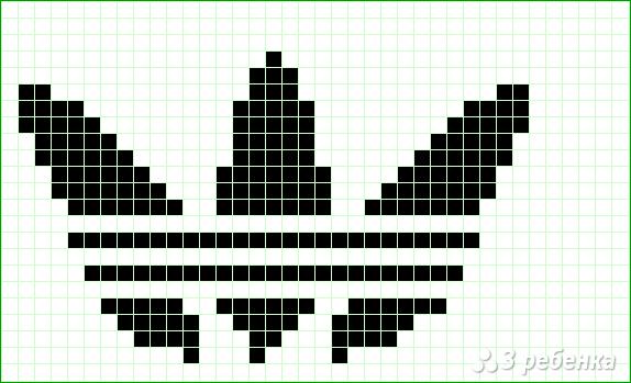 Схема фенечки прямым плетением 14751
