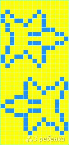 Схема фенечки прямым плетением 14658