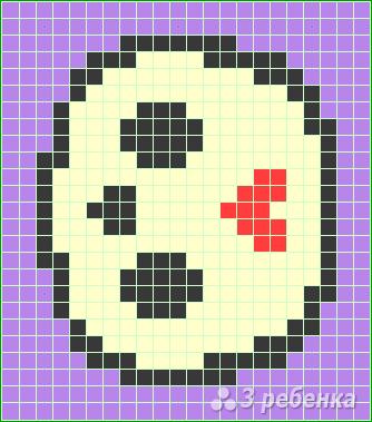 Схема фенечки прямым плетением 14668