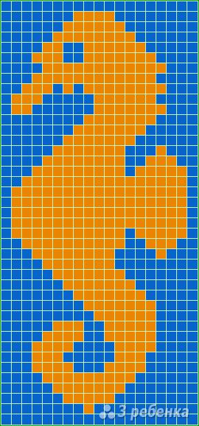 Схема фенечки прямым плетением 14663