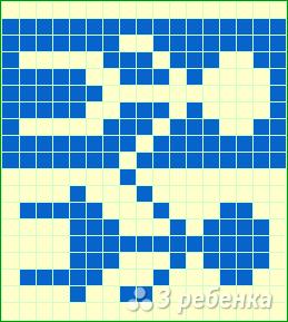 Схема фенечки прямым плетением 14817