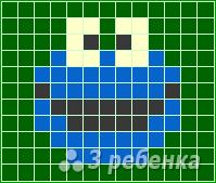 Схема фенечки прямым плетением 14703