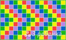 Схема фенечки прямым плетением 14840