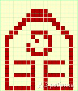 Схема фенечки прямым плетением 14708
