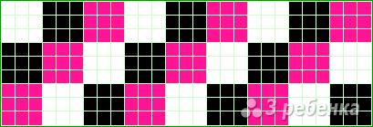 Схема фенечки прямым плетением 14726