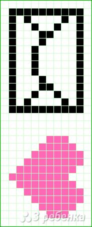 Схема фенечки прямым плетением 14851