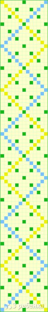 Схема фенечки прямым плетением 14772