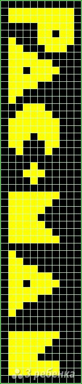 Схема фенечки прямым плетением 14678