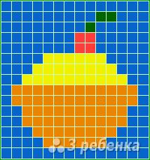 Схема фенечки прямым плетением 14889
