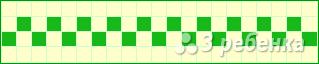 Схема фенечки прямым плетением 14868