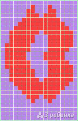 Схема фенечки прямым плетением 14714