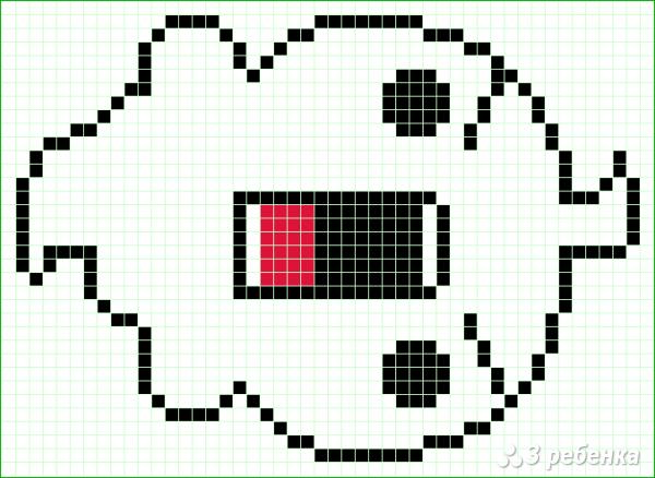 Схема фенечки прямым плетением 14673