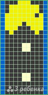 Схема фенечки прямым плетением 14766