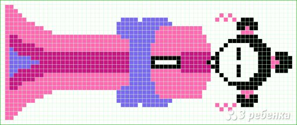 Схема фенечки прямым плетением 14918
