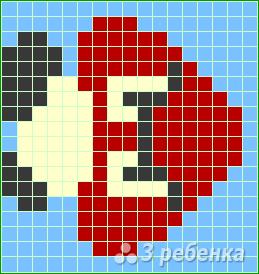 Схема фенечки прямым плетением 14720