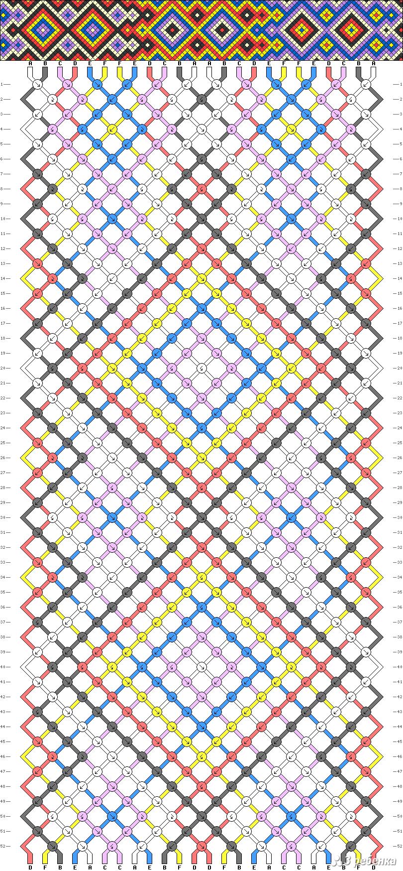 Рисунки или схемы для фенечек