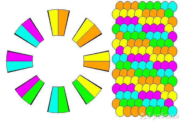 Схема фенечки кумихимо 15728
