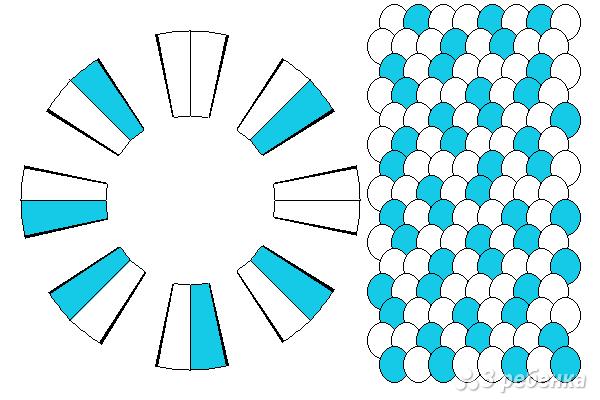 Схема фенечки кумихимо 15724