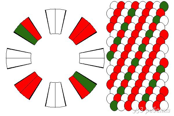 Схема фенечки кумихимо 15720