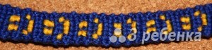 Схема фенечки прямым плетением 15027
