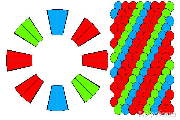 Схема фенечки кумихимо 15712