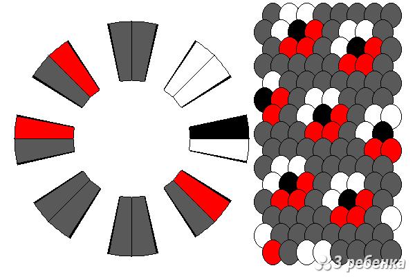 Схема фенечки кумихимо 18275