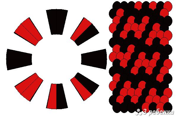 Схема фенечки кумихимо 18412