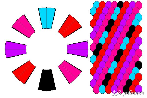 Схема фенечки кумихимо 18407