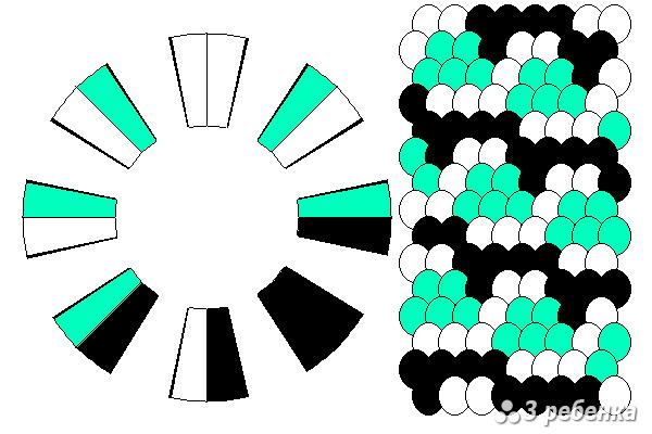 Схема фенечки кумихимо 18445