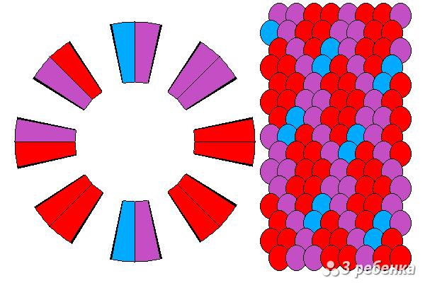 Схема фенечки кумихимо 18403