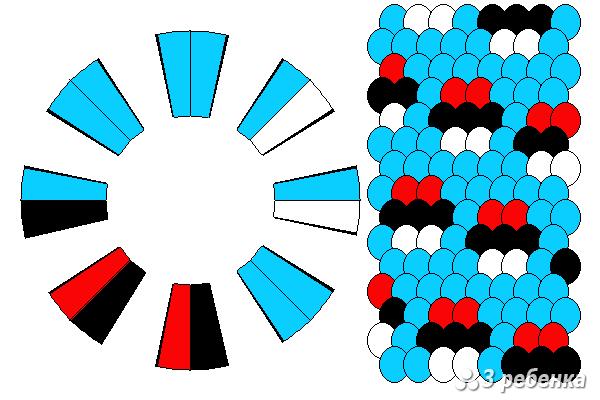 Схема фенечки кумихимо 18441