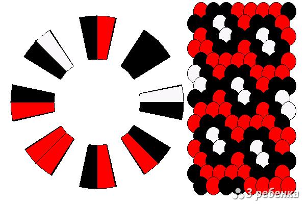 Схема фенечки кумихимо 18399