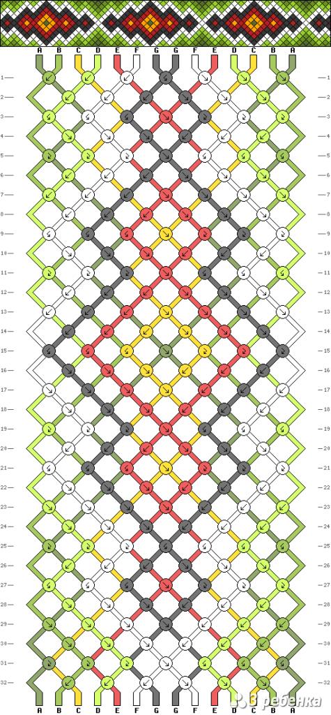 Схема фенечки 16844