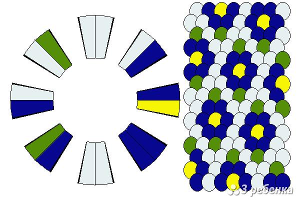 Схема фенечки кумихимо 18393