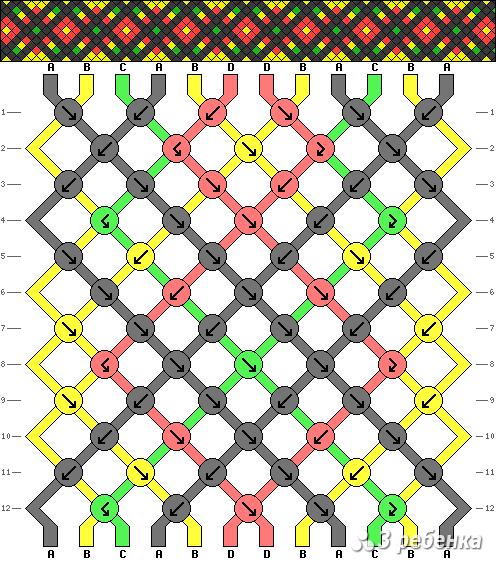 Схема фенечки 16999