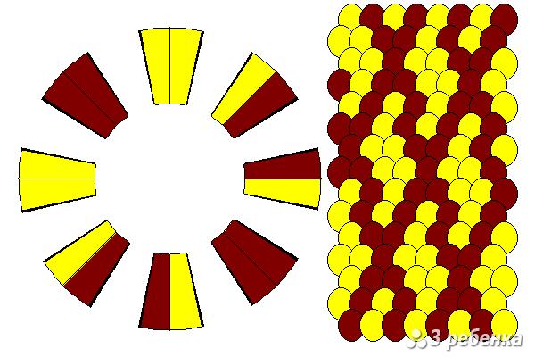 Схема фенечки кумихимо 18229